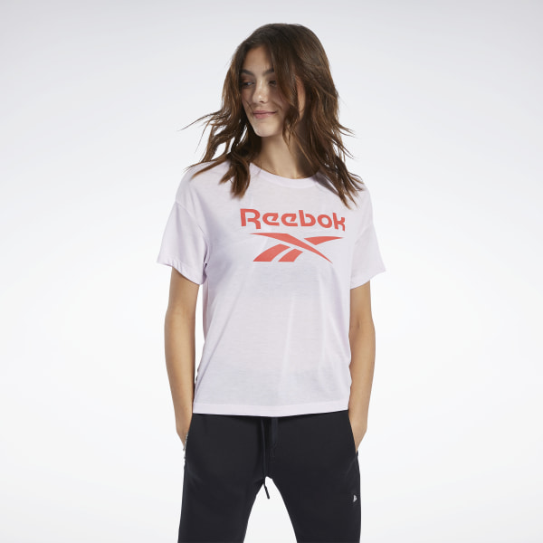 T shirt femme Reebok Workout Mesh Panel