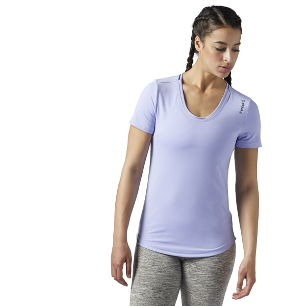Reebok Workout Ready Short Sleeve Tee Purple | Reebok Australia