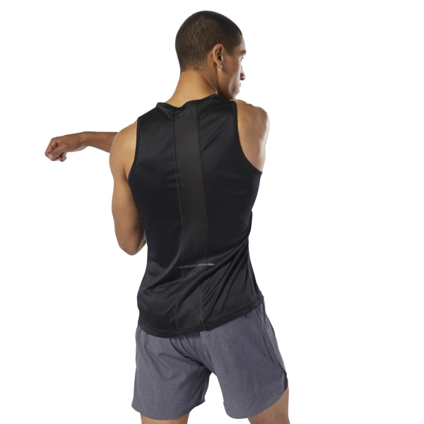 Reebok Run Essentials Speedwick Singlet Black | Reebok Australia