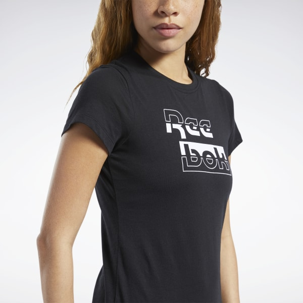 Reebok Graphic Tee 2 T shirt Womens Fitness T shirts Fit Top