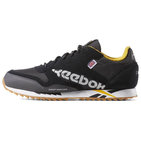 Black Reebok Classic Leather Ripple Altered Shoes