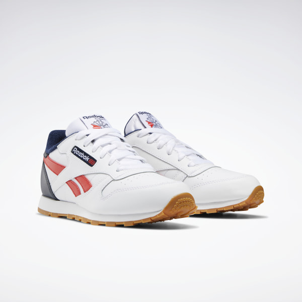 Reebok Classic Leather MU White Collegiate Navy Radiant Red | Footshop