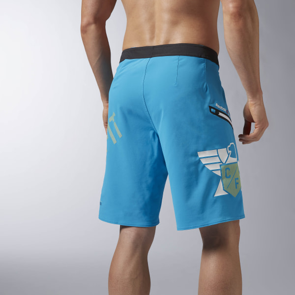 Reebok Men/'s CrossFit Super Nasty Core Training Blue Board Shorts AX8892