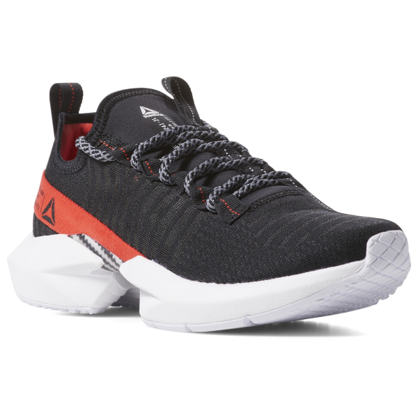 reebok shoes black and red