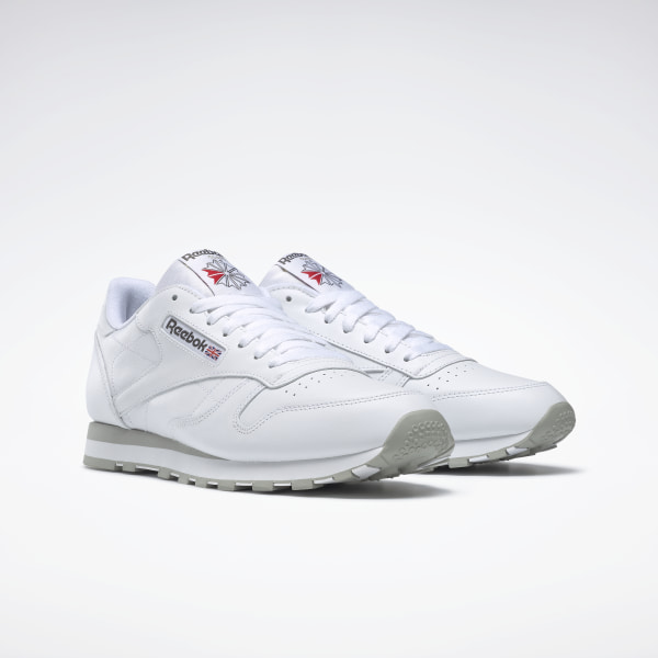 best sneakers 1d088 6924c Reebok Classic Leather Shoes - White | Reebok MLT