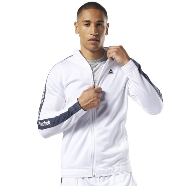 Reebok Veste avec logo linéaire Training Essentials Blanc | Reebok Switzerland
