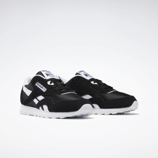 Reebok Classic J21506 Nylon Black//White Casual Shoes Youth Women