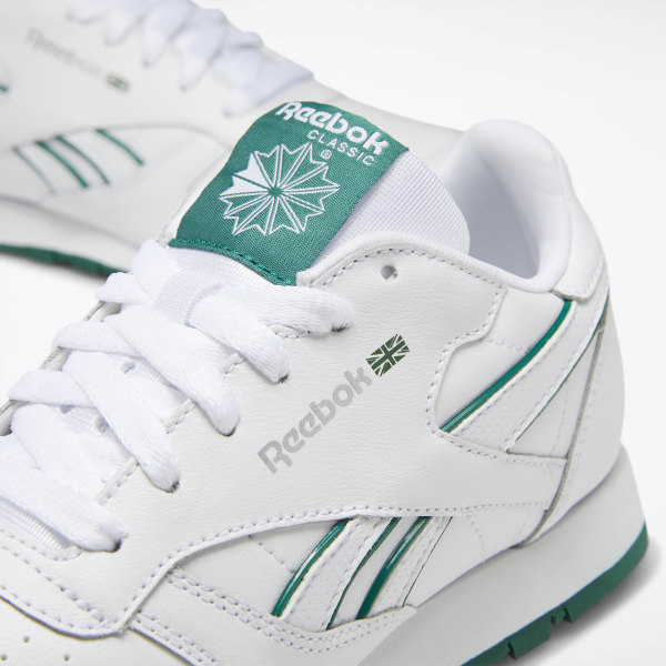 reebok classic leather green and white
