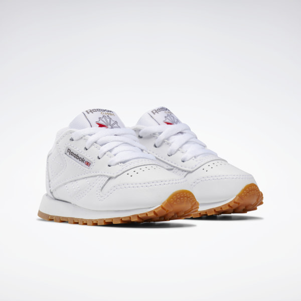 Gum Toddler Kids Sneakers Tennis Shoes Item V69626 Reebok Classic Leather White