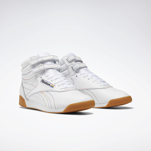 Details about Vintage Reebok Classic Freestyle High Top Aerobic Shoes White Womens Size 7 12