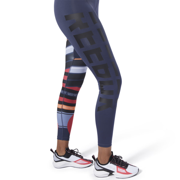 Reebok Meet You There Engineered Tights Red | Reebok Norway