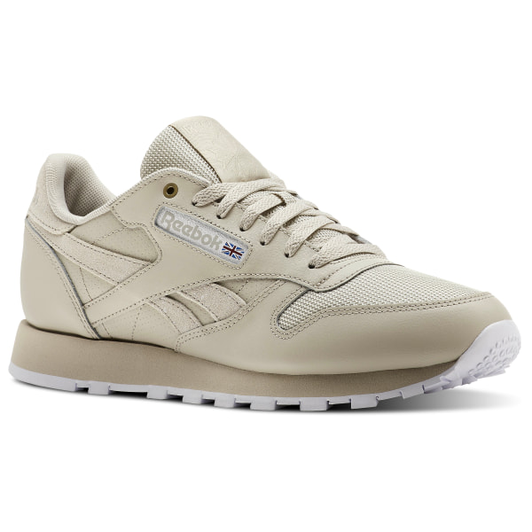 beige and blanche reebok trainers