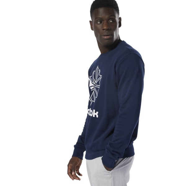 Navy adidas Essentials Men/'s French Terry Fleece Crew Sweatshirt