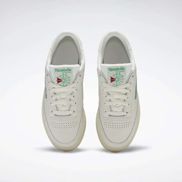 Club C 85 Vintage Women's Shoes Chalk / Glen Green / Paper White / Excellent Red BS8242