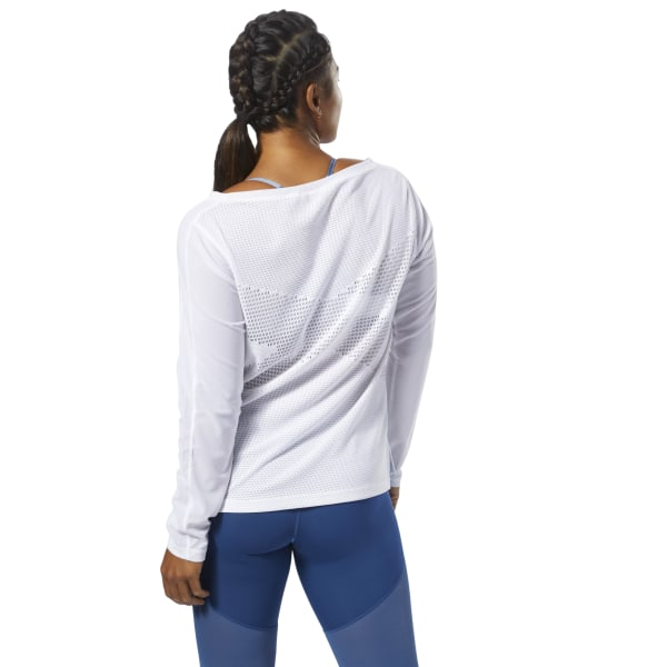 Reebok CrossFit Jacquard Long Sleeve White | Reebok US