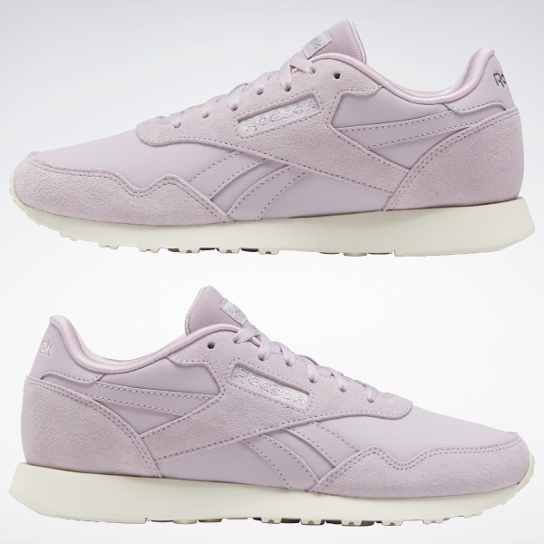 Women/'s Ladies Reebok Royal Classic Trainer Shoes Sneakers Purple Trainers
