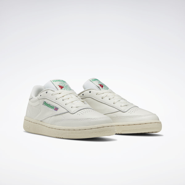 Details about Reebok Club C 85 Vintage Leather Chalk Green Women Classic Shoes Sneakers BS8242