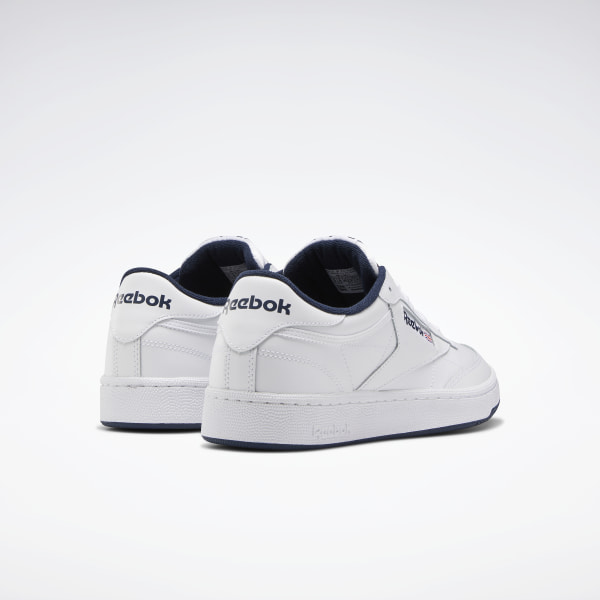 Details about MEN'S REEBOK CLUB C 85 CLASSIC AR0457 WHITENAVY CASUAL LEATHER SNEAKER