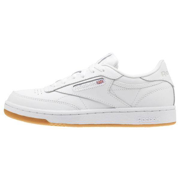 Reebok Classic Club C White Gum Junior Big Kids Running Tennis Shoes CN5646