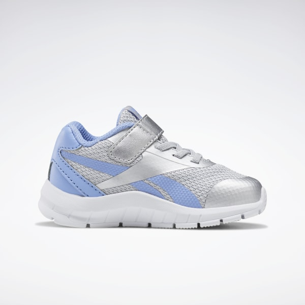 MENS REEBOK SILVER Blue Running Training Sneakers Sko Størrelse