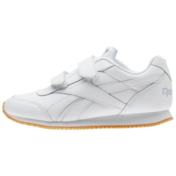 Reebok Infant Royal Classic Jogger Trainers Children Unisex Shoes White Silver