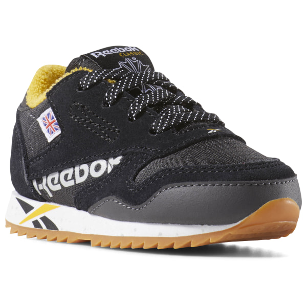 Reebok boys leather trainers royal cl jogger kids velcro