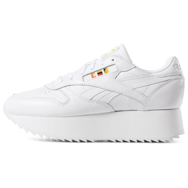 Reebok Classic Leather Double Stack White Trainers