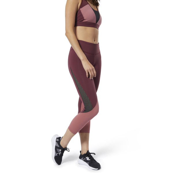Reebok Lux 3/4 Colorblocked Tights 2.0 Lux Maroon / Rose Dust EC5882