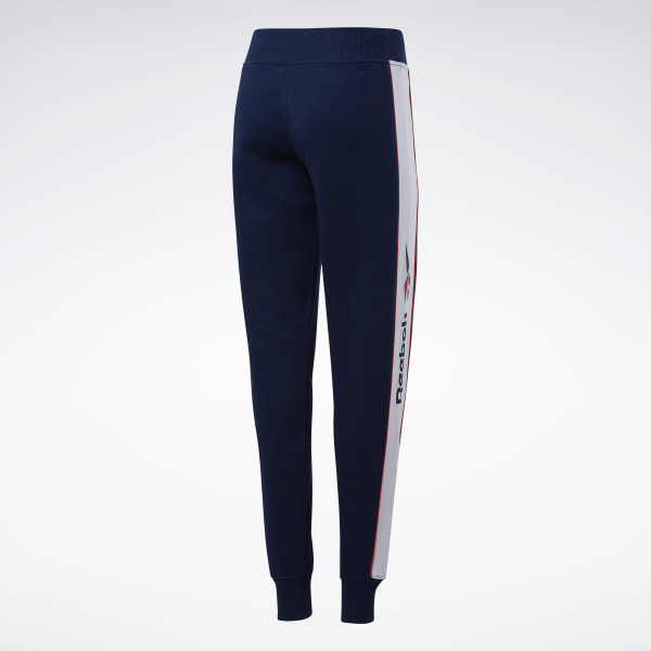 Reebok Classic CLASSICS LINEAR FLEECE PANTS - Trainingsbroek - blue