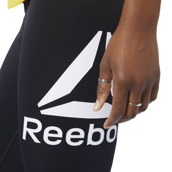 Reebok Workout Big Logo Tights Damen schwarz | mode