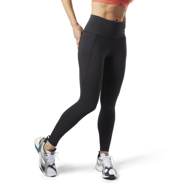 Reebok STUDIO REEBOK LUX TIGHTS - GRAPHIC - Tights black