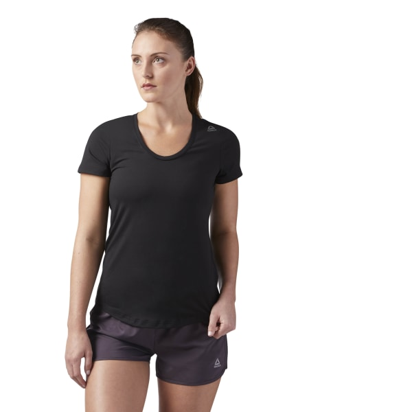 942f1a5d18 Reebok Workout Ready Speedwick Tee - Black | Reebok MLT