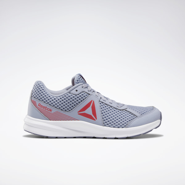 Stride with confidence in these junior girls\' running shoes. They have a rubber outsole for traction on unpredictable surfaces and a lightweight mesh upper for durability. The anti-abrasion finish provides durability. Mesh upper for lightweight breathability Designed for: Running Rubber outsole for ultimate traction and grip on multiple surfaces Anti-abrasion finish Imported
