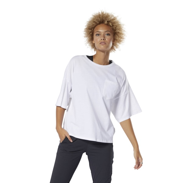 189806870b Reebok Training Supply Pocket Tee - White | Reebok Norway
