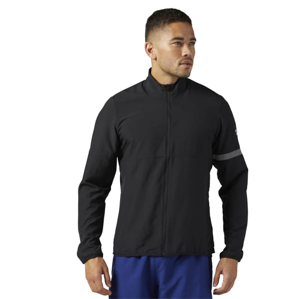 e6d684293c Reebok Running Woven Jacket - Black | Reebok GB