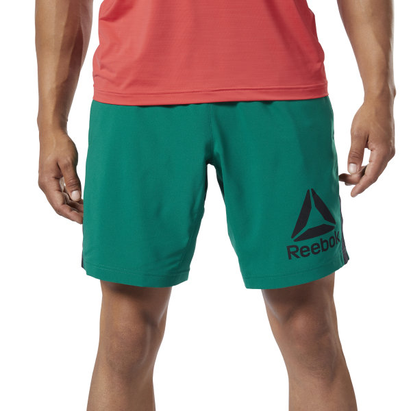 9c3a99f0e40 Reebok Workout Ready Woven Graphic Shorts - Green | Reebok New ...
