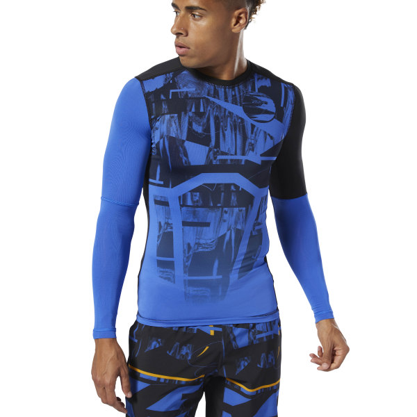9636bffddf Reebok Training Compression Tee - Blue | Reebok MLT