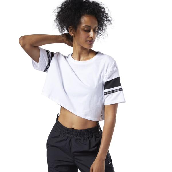 78c2f75667 Reebok Meet You There Colorblock Tee - White | Reebok MLT
