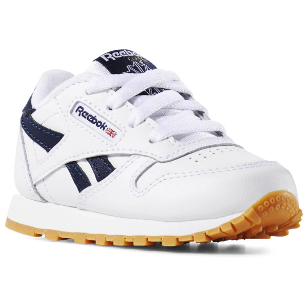 reebok classics leather trainer blanche and gum