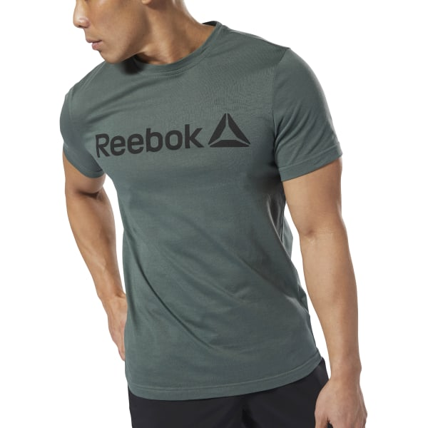 9b9416056 Reebok Linear Read Tee - Green | Reebok US