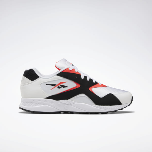 Reebok Shoes Unisex Torch Hex Shoes in White/Black/Neon Red Size M 7 / W 8.5 - Retro Running,Lifestyle Shoes