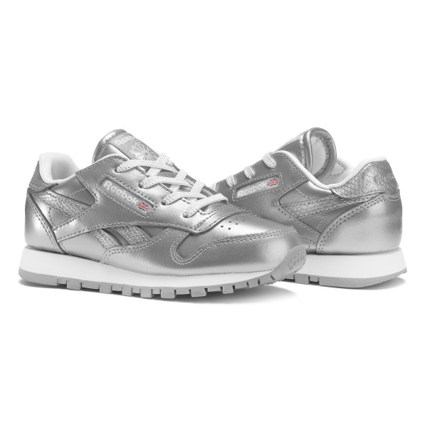 552cbd686613d Reebok Classic Leather Metallic - Infant   Toddler - Silver