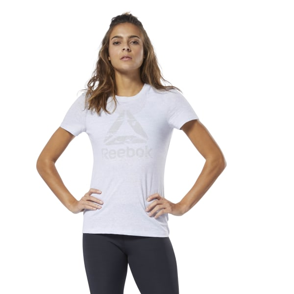 aabb88f87 Reebok Training Essentials Marble Logo Tee - White | Reebok GB