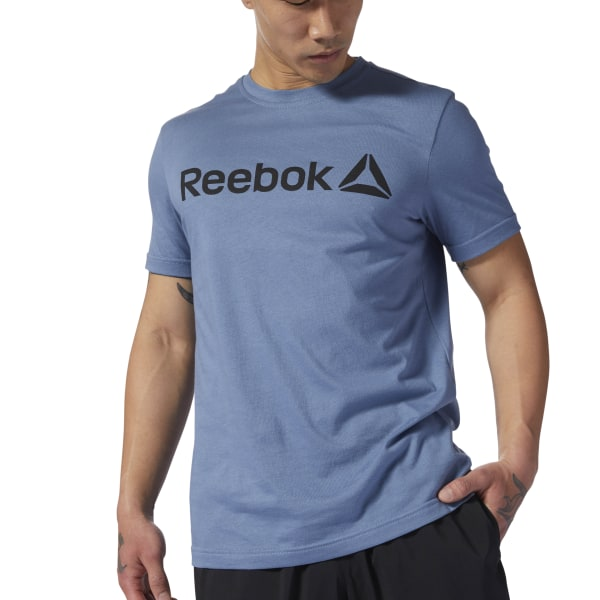 36227b6da Reebok Linear Read Tee - Blue | Reebok US