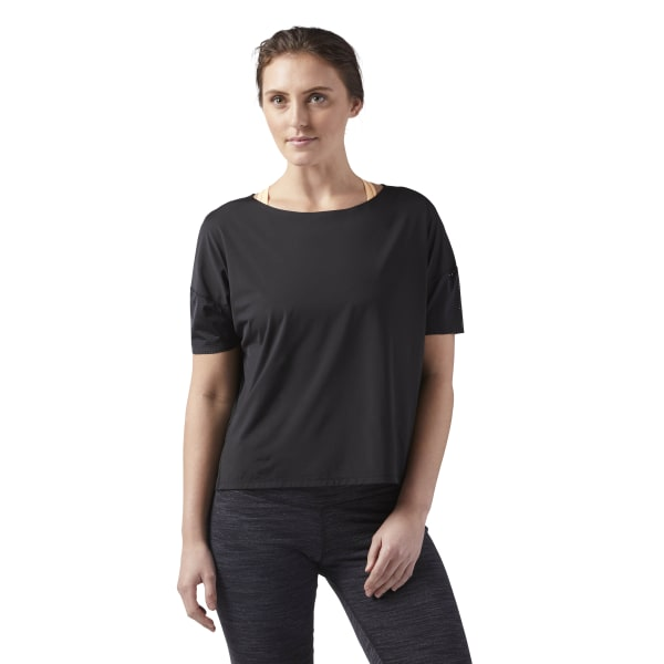 3917ab078f Reebok Perforated Speedwick Tee - Black | Reebok US