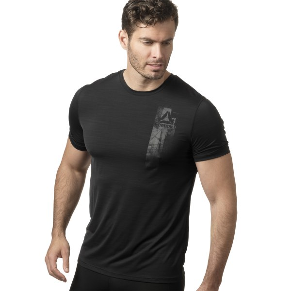 86d60ca295 Reebok Workout Ready ACTIVCHILL Graphic Top - Black | Reebok MLT
