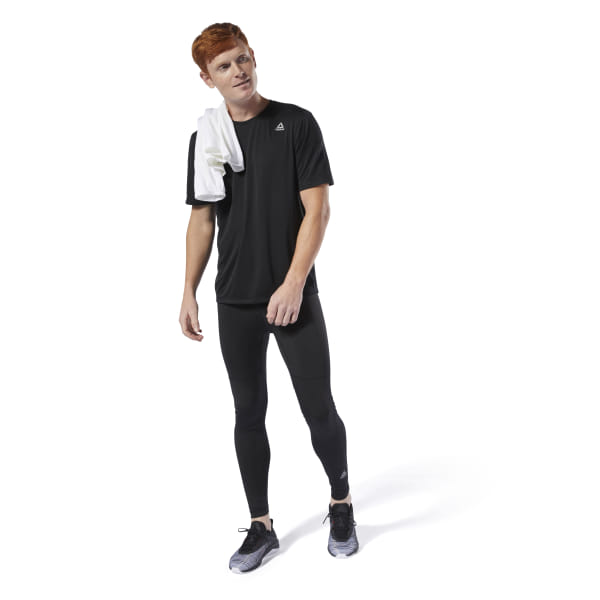 c2c902256e Reebok Run Essentials Tee - Black | Reebok MLT