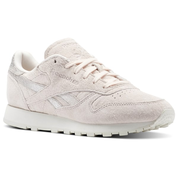 5989d62ad5e Home; /Dames; /Schoenen; /Classic Leather Shimmer. Classic Leather Shimmer  Pale Pink / Matte Silver / Chalk BS9865