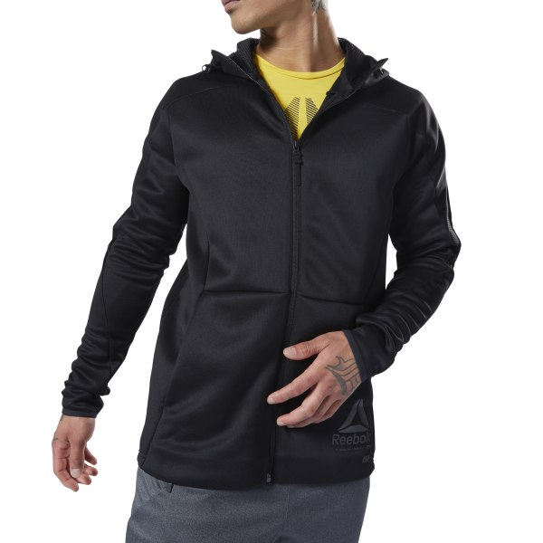 7519fade0d Reebok One Series Training Full Zip Hoodie - Black | Reebok Canada