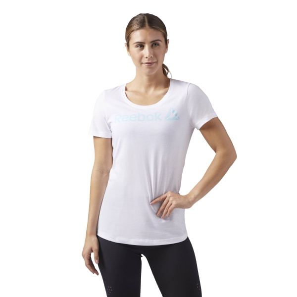 e127fa4724a5 Reebok Scoop Neck Tee - White | Reebok US